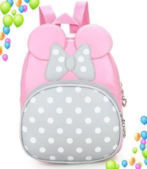 QS50 - Balo Mickey đáng yêu cho bé QSTORE ( Hồng phấn)