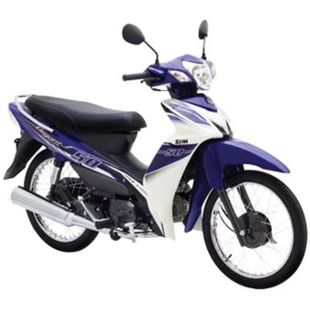 Xe số SYM Elegant 50 cc 2016 - Xanh trắng