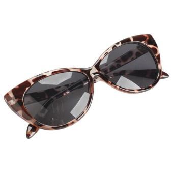 Vintage Cat Eye Design Sunglasses Leopard Frame Shades UV400 Protector - Intl