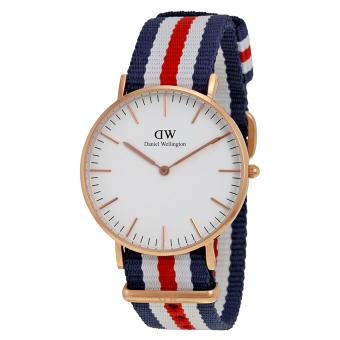 Đồng hồ nữ dây vải Daniel Wellington 0502DW (Trắng).