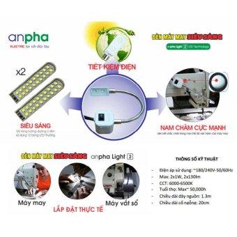 Bộ 2 đèn máy may siêu sáng Anpha Light 2