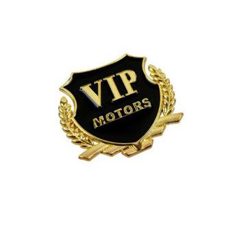 Logo nổi Vip Motor (Vàng)