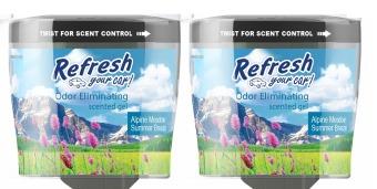 Bộ 2 Hộp khử mùi hương Thảo Nguyên và Gió Mùa Hè Refresh Your Car (Xanh)