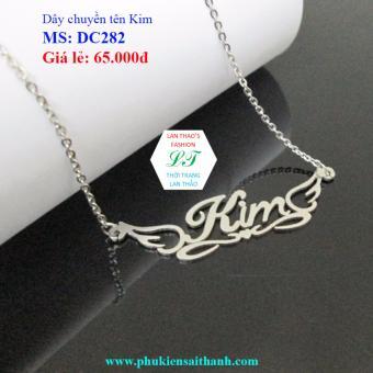 Dây chuyền Inox Nữ tên KIM siêu xinh DC282 (TRẮNG)