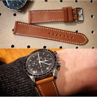 Dây da đồng hồ LDD0081 size 20 mm (DA THẬT ĐƯỢC NHẬP KHẨU NGUYÊN CON)
