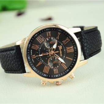 Đồng hồ nữ dây da tổng hợp Geneva G001 (Đen)
