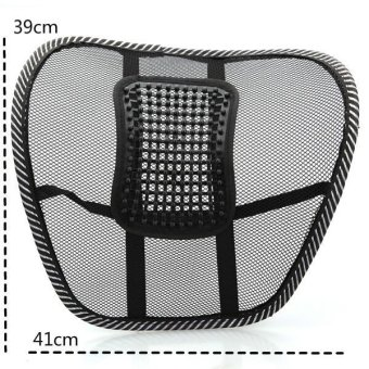 Car Chair Mesh Seat Back Support Lumbar Massage Cushion Mesh Lumbar Back Brace Support Office Home Car Seat Chair Cushion Cool - intl