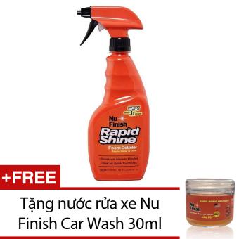 Dung dịch xịt bóng nhanh xe hơi Nu Finish Rapid Shine NFR-12 443ml + Tặng nước rửa xe Nu Finish Car Wash 30ml