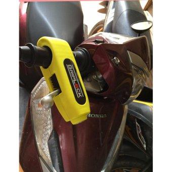 Ổ khóa tay ga xe máy chống trộm Grip-Lock (Vàng)
