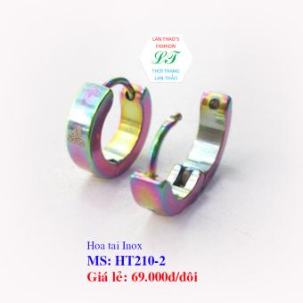 Hoa tai Inox Khuyên Hàn Quốc siêu xinh HT210-2 (Trắng)