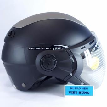 Mũ bảo hiểm GRS A102K (Đen nhám line ghi)