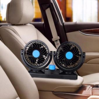 Quạt máy đôi mini 12v trên ô tô