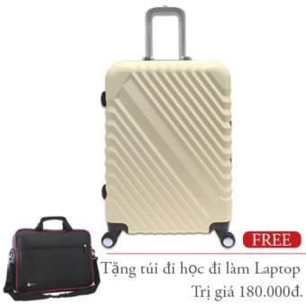 Vali nhựa cứng Khung Nhôm size nhỏ 5 tấc màu trắng sữa TA266