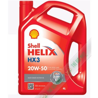 Nhớt xe ô tô cao cấp Shell Helix HX3 20W50 4L