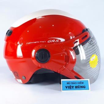 Mũ bảo hiểm GRS A102K (Đỏ line trắng)