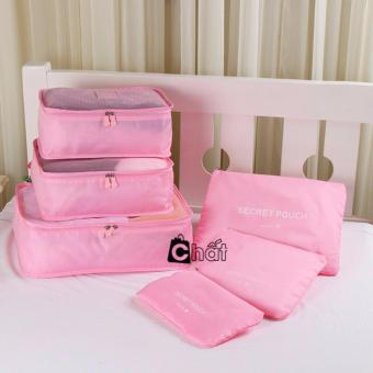 Bộ 6 túi du lịch chống thấm Bags in Bag ( Hồng nhạt)