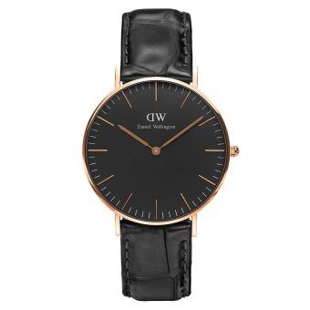 Đồng hồ nữ dây da Daniel Wellington DW00100141 (Đen).