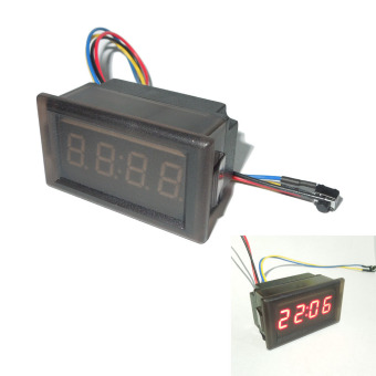 Red New LED Waterproof Vehicle-mounted Digital Clock Car Accessories(Intl)