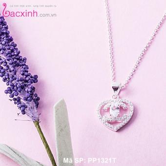 Mặt dây chuyền trang sức bạc Ý S925 Bạc Xinh - Mặt tim đẹp PP1321