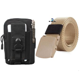 Túi Đeo Hông Đi Phượt Đa Năng + Thắt Lưng Dù Chiến Thuật HQ 80TU57-915