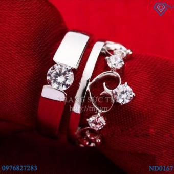 Nhẫn đôi Nhẫn cặp bạc đẹp vương miện ND0167