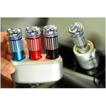Máy lọc không khí, khử mùi và tạo ô xy cho ô tô mini (Bạc)