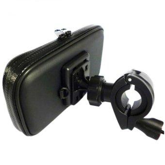 Giá đỡ điện thoại chống nước hỗ trợ cảm ứng trên xe đạp, xe máy, moto,3 lớp chống sóc phượt H100-ĐEN