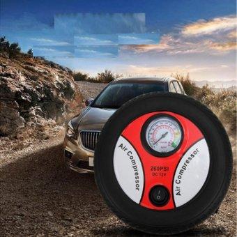 Máy bơm lốp ô tô 12v Air Compressor 260PSI (Đen phối đỏ)