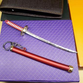 Móc chìa khóa kiếm nhật samurai đỏ cực ngầu