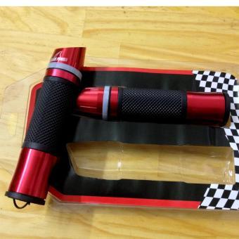 Bộ 2 bao tay lái xe máy gù xéo có đèn Led (đỏ rượu vang)