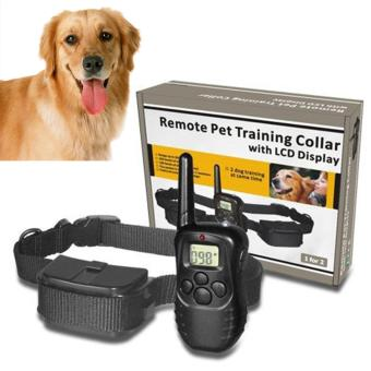 Moonar LCD 100LV 300 Yard Level Electric Shock Vibration Remote Pet Dog Training Collar - intl
