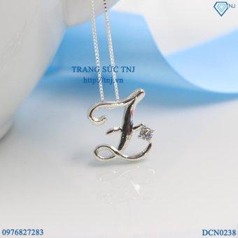 Dây chuyền bạc nữ mặt chữ L đẹp DCN0238 - Trang Sức TNJ
