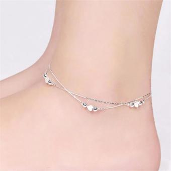 Vòng đeo chân ( tay ) nữ Trái tim bạc LC011_6140