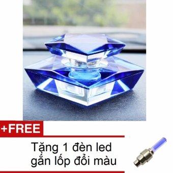 Nước hoa ô tô cao cấp Crystal nhẹ sạch HQ206107 + Tặng 1 đèn led gắn lốp đổi màu 206131