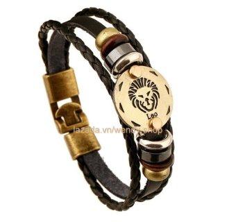 Vòng đeo tay Nam hình 12 chòm sao hoàng đạo cung Leo - Hùng Sư - VĐT03