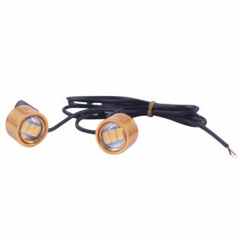 Bộ 2 led CL040 gắn kính hậu xe máy (chớp-sáng vàng)