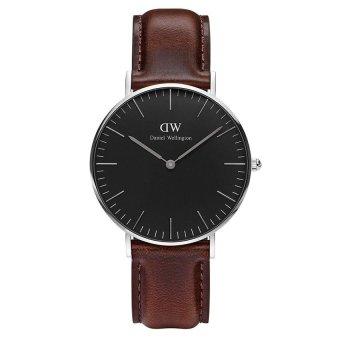 Đồng hồ nữ dây da Daniel Wellington DW00100143 (Nâu Đen)
