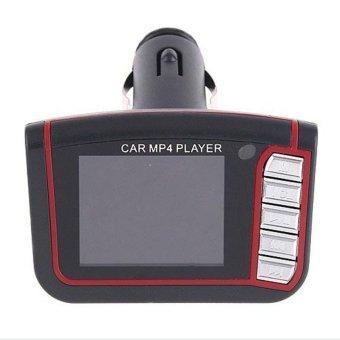 Wireless LCD Car Auto FM Transmitter MP4 Music Player USB MMC SD 2-piece Set (Black)