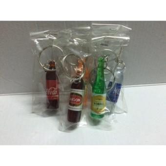 Bộ 2 móc khóa hình chai nước