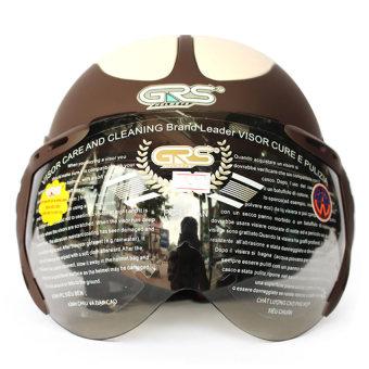Mũ bảo hiểm có kính GRS102 (Nâu)