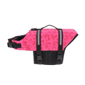 Pet Aquatic Reflective Preserver Float Vest Dog Cat Saver Life Jacket New Pink Bone Size:XS - intl