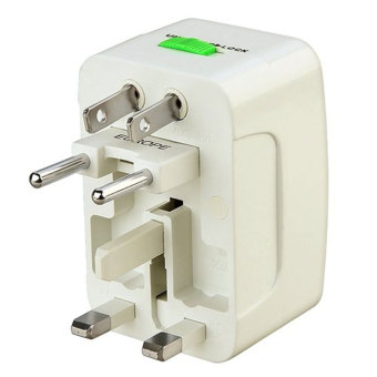 niceEshop Universal Portable World Wide Travel Power Charger Adapter Plug Converter (White)