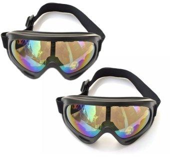 Bộ 2 Mắt Kính Đi Phượt chống bụi và tia UV tráng bạc 7 màu