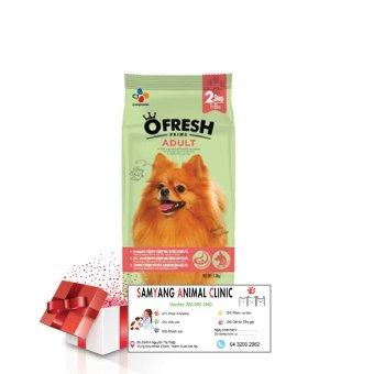 Combo thức ăn cho chó O'FRESH ADULT + Voucher 200.000