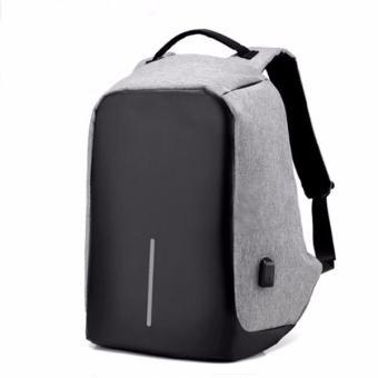 Balo laptop chống trộm DXYZ 1701 xám (tặng cáp USB)