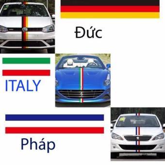 Decal trang trí xe quốc gia keo PVC cao cấp, khổ 15cm x 3m (Italy)