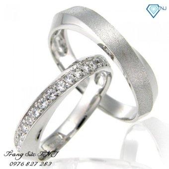 Nhẫn đôi nhẫn cặp bạc đẹp ND0088