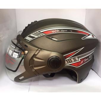 Mũ bảo hiểm cao cấp có kính 117 ( Ghi tem đỏ)
