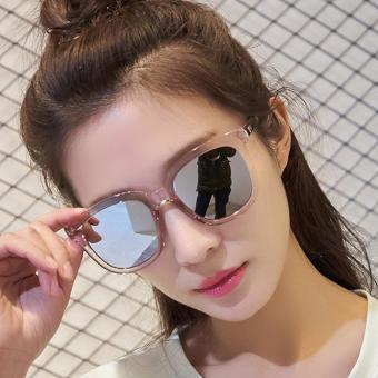 Kính mát thời trang tráng gương phản quang cực gọng hồng phấn Korea F205 (Thủy)