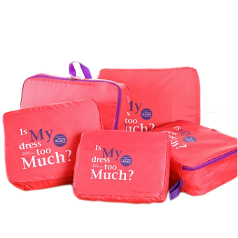 Bộ 5 túi Bag in bags tiện dụng (Hồng)